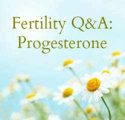 Fertility Q&A: Progesterone